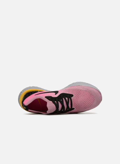 Zapatillas de deporte Nike Wmns Nike Epic React Flyknit Rosa vista lateral izquierda