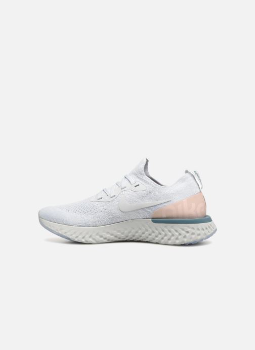 Sport shoes Nike Wmns Nike Epic React Flyknit White front view