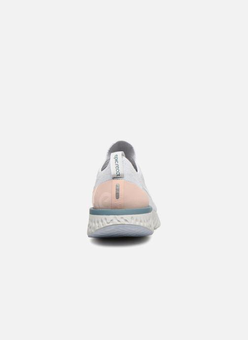 Sportskor Nike Wmns Nike Epic React Flyknit Vit Bild från höger sidan