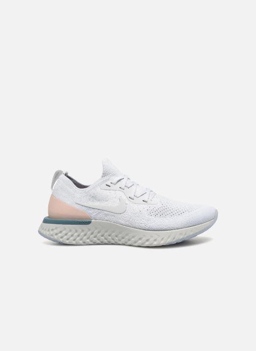 Sport shoes Nike Wmns Nike Epic React Flyknit White back view