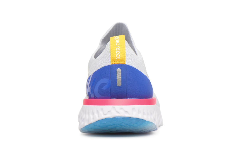 Chaussures de sport Nike Wmns Nike Epic React Flyknit Blanc vue droite