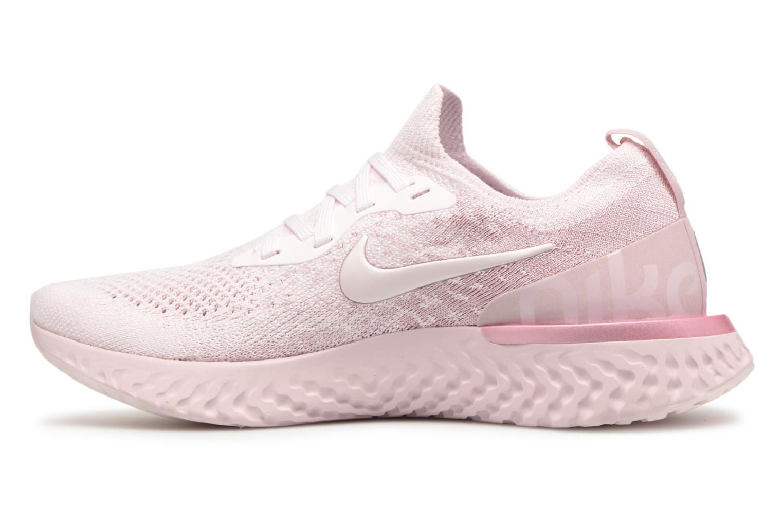 Chaussures de sport Nike Wmns Nike Epic React Flyknit Rose vue face