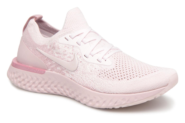 Chaussures de sport Nike Wmns Nike Epic React Flyknit Rose vue détail/paire
