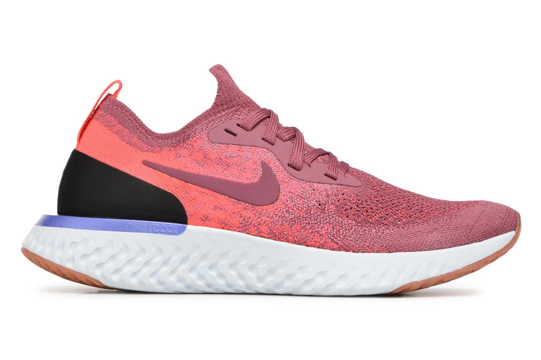 Chaussures de sport Nike Wmns Nike Epic React Flyknit Rouge vue derrière