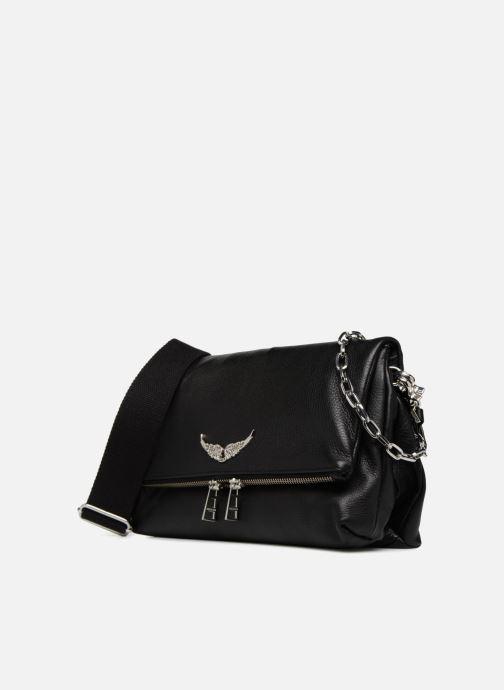 Bolsos de mano Zadig & Voltaire ROCKY Negro vista del modelo