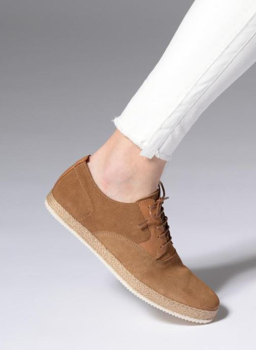 Chaussures à lacets Mr SARENZA Scorda Marron vue bas / vue portée sac