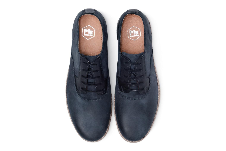 Scarpe con lacci Mr SARENZA Scorda Azzurro modello indossato
