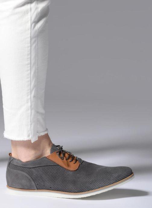 Chaussures à lacets Mr SARENZA Surtop Gris vue bas / vue portée sac