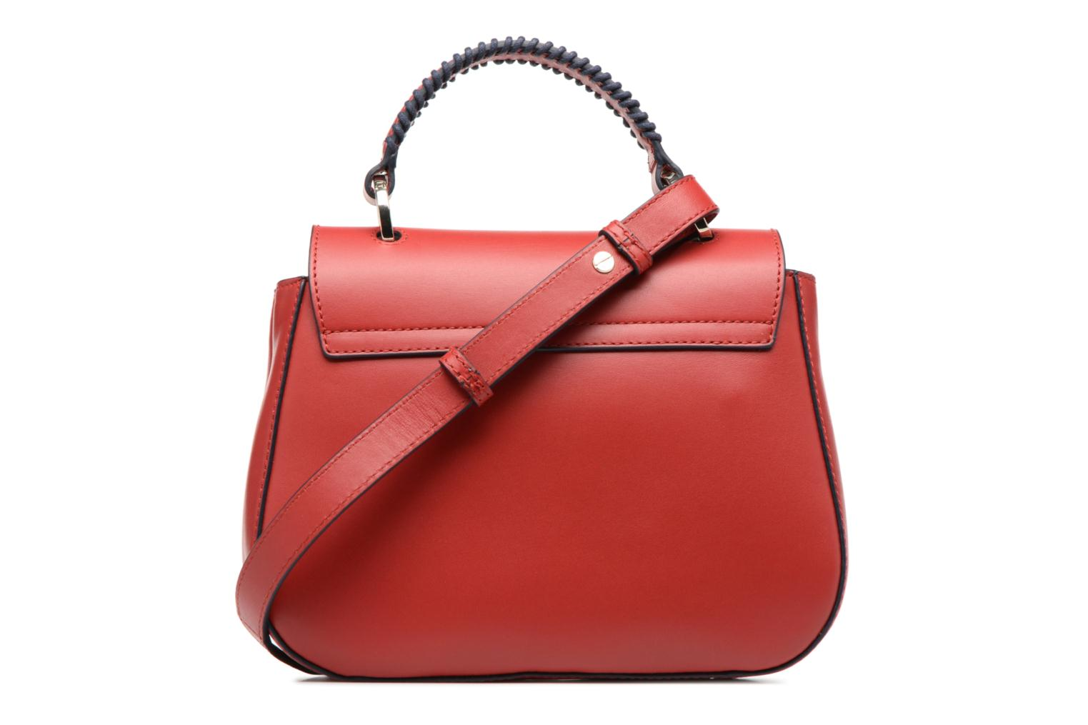 Sacs à main Tommy Hilfiger TH TWIST LEATHER CROSSOVER LACING Rouge vue face