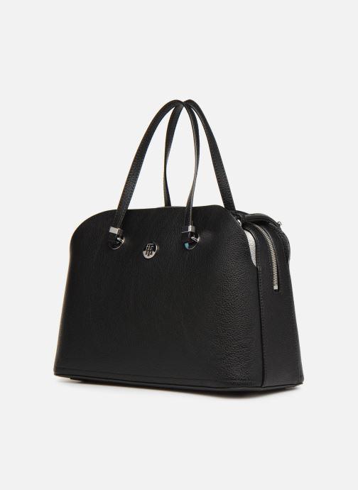 Bolsos de mano Tommy Hilfiger TH CORE SATCHEL Negro vista del modelo