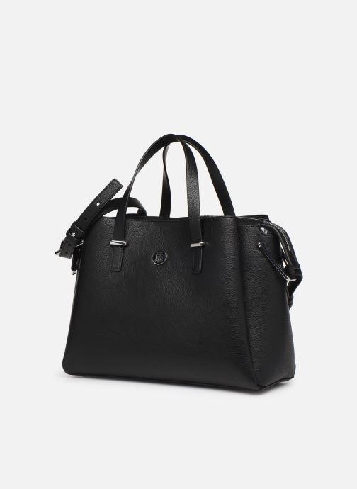 Handtaschen Tommy Hilfiger TH CORE SATCHEL schwarz schuhe getragen