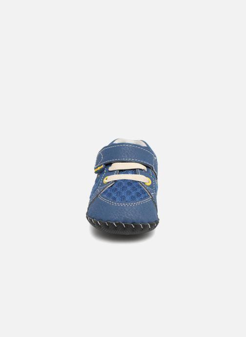 Hausschuhe Pediped Dani blau schuhe getragen