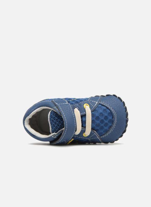Pantuflas Pediped Dani Azul vista lateral izquierda