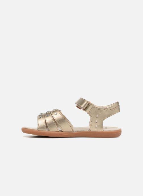 Sandales et nu-pieds Pediped Lynn Or et bronze vue face