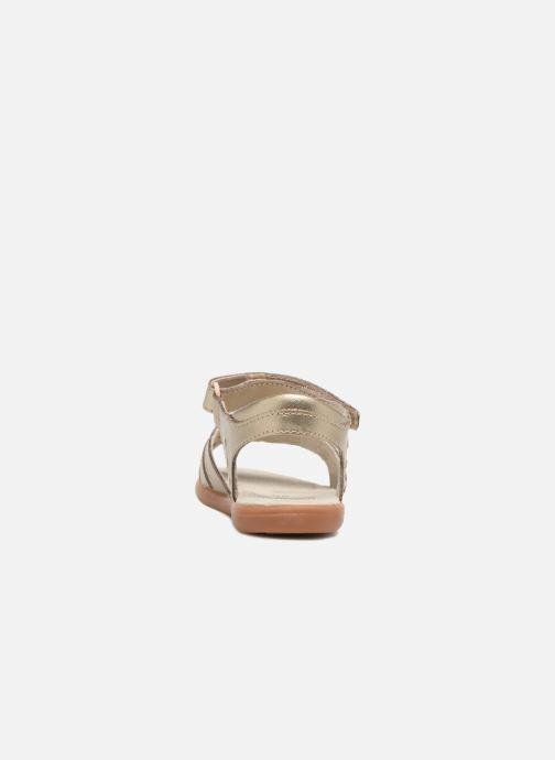 Sandales et nu-pieds Pediped Lynn Or et bronze vue droite
