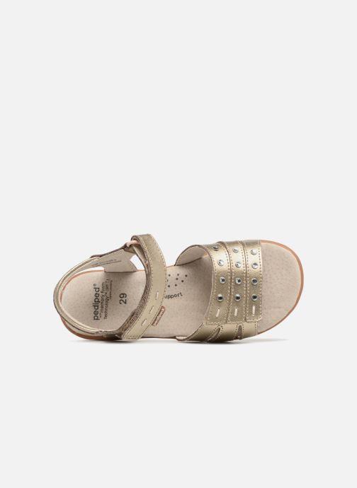 Sandales et nu-pieds Pediped Lynn Or et bronze vue gauche