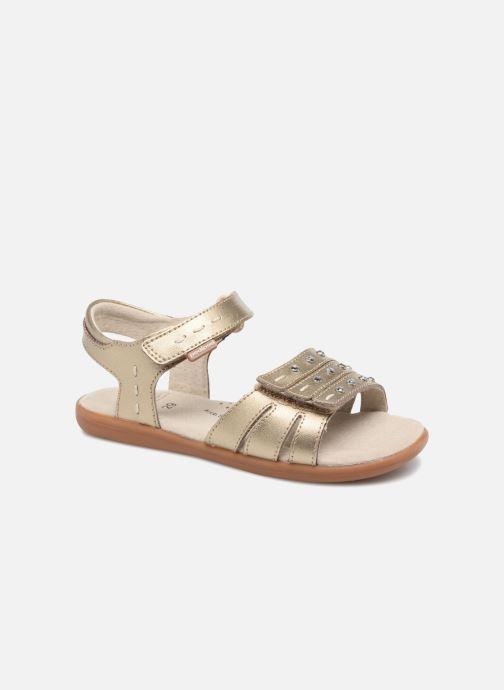 Sandales et nu-pieds Pediped Lynn Or et bronze vue détail/paire