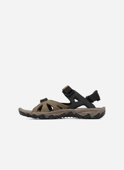 Chaussures de sport Merrell All Out Blaze Sieve Convert Marron vue face