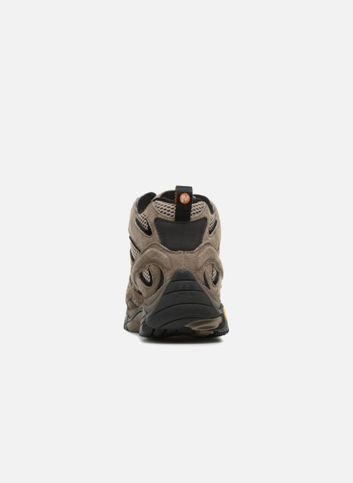 Sport shoes Merrell Moab 2 Ltr Mid Gtx Brown view from the right