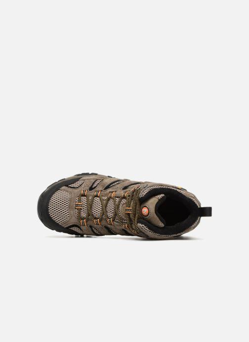 Chaussures de sport Merrell Moab 2 Ltr Mid Gtx Marron vue gauche