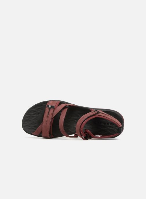 Chaussures de sport Merrell Siren Strap Q2 Rouge vue gauche