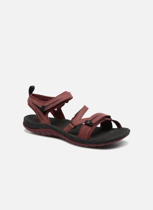 Chaussures de sport Merrell Siren Strap Q2 Rouge vue détail/paire