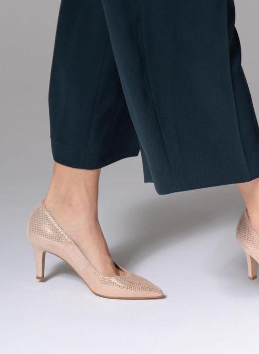 Zapatos de tacón Tamaris Oeillette Rosa vista de abajo