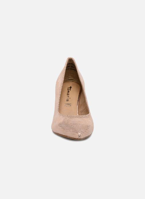 Escarpins Tamaris Oeillette Rose vue portées chaussures