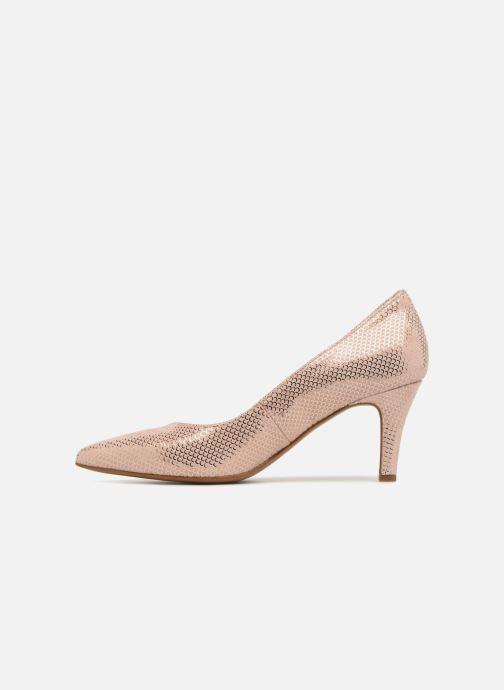 Zapatos de tacón Tamaris Oeillette Rosa vista de frente