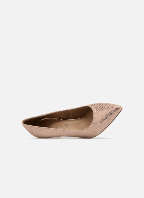Zapatos de tacón Tamaris Oeillette Rosa vista lateral izquierda