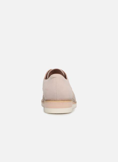Zapatos con cordones Tamaris Absinthe Rosa vista lateral derecha