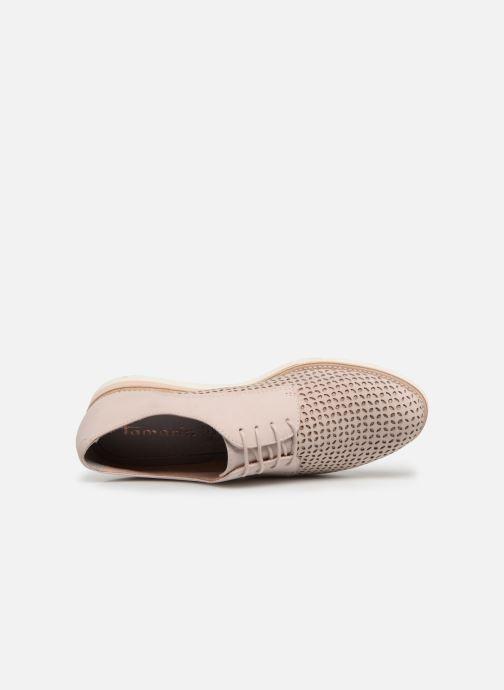 Zapatos con cordones Tamaris Absinthe Rosa vista lateral izquierda