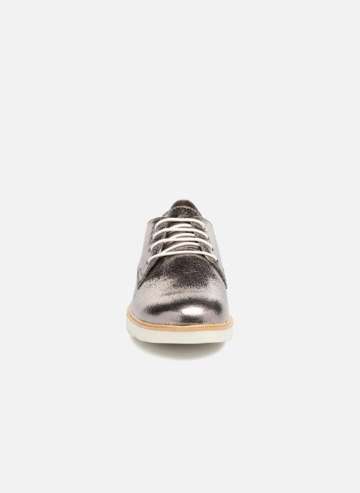 Schnürschuhe Tamaris Combava silber schuhe getragen