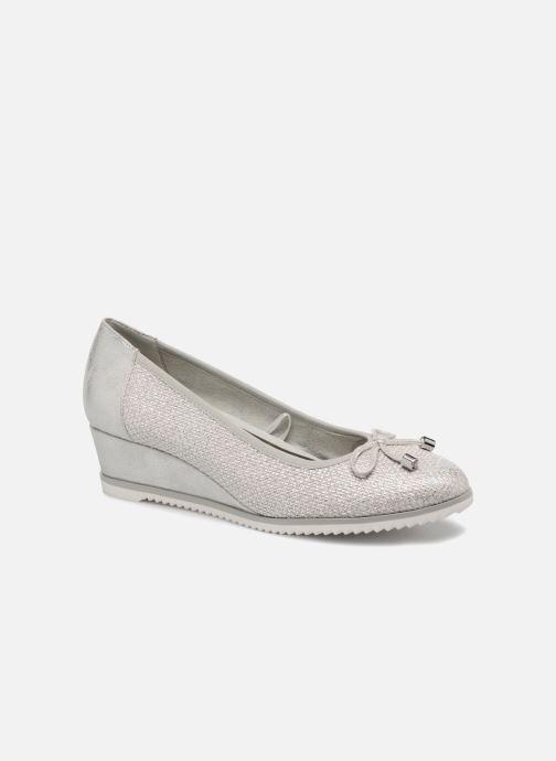 Tamaris Myrte Pumps silber Damen Schuhe Leder Synthetik