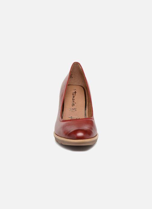 Escarpins Tamaris Paprika Rouge vue portées chaussures