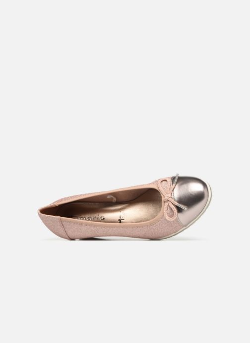 Pumps Tamaris Moka rosa ansicht von links