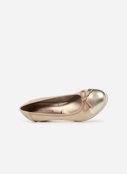 Pumps Tamaris Moka gold/bronze ansicht von links