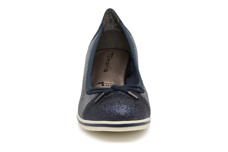 Escarpins Tamaris Moka Bleu vue portées chaussures