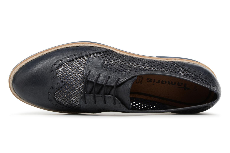 Chaussures à lacets Tamaris Girofle Bleu vue gauche