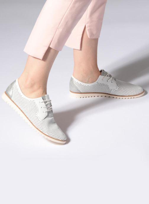 Zapatos con cordones Tamaris Laurier Blanco vista de abajo