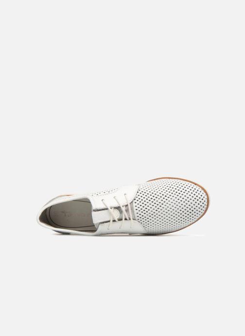 Zapatos con cordones Tamaris Laurier Blanco vista lateral izquierda