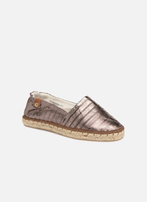 Espadrilles Tamaris Gingembre Bronze and Gold detailed view/ Pair view