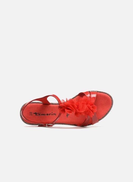 Sandales et nu-pieds Tamaris Cèdre 2 Rouge vue gauche