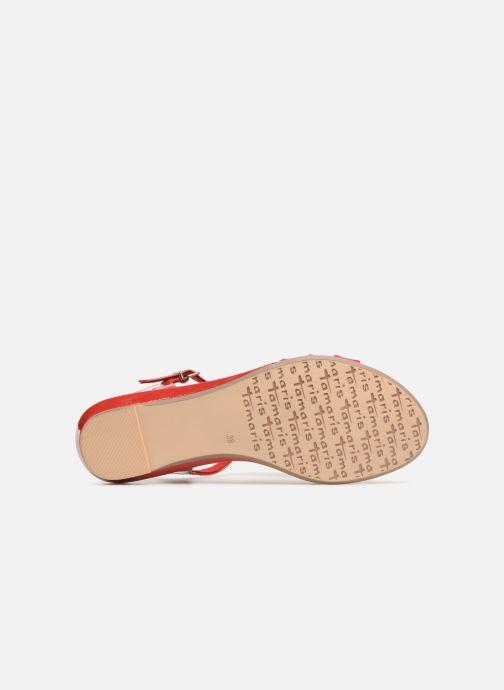 Sandales et nu-pieds Tamaris Cèdre 2 Rouge vue haut
