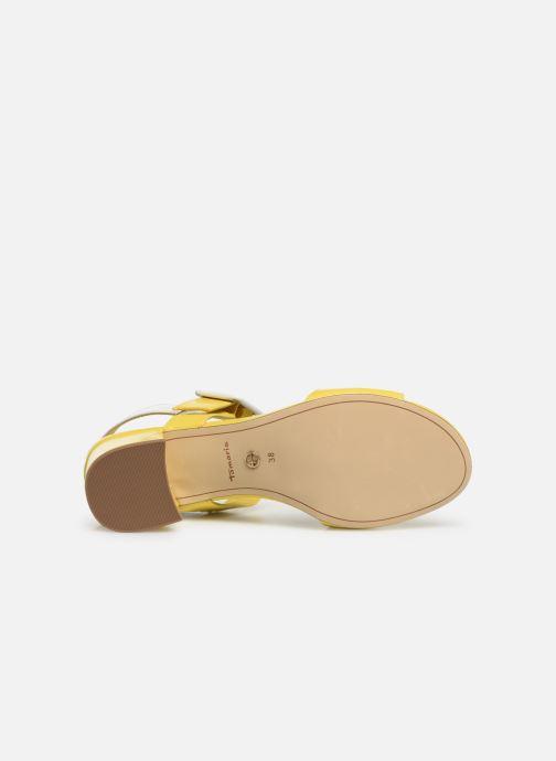 Sandales et nu-pieds Tamaris Agave 2 Jaune vue haut