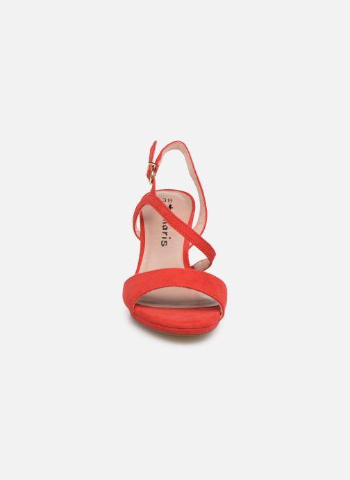 Sandales et nu-pieds Tamaris Surelle Rouge vue portées chaussures