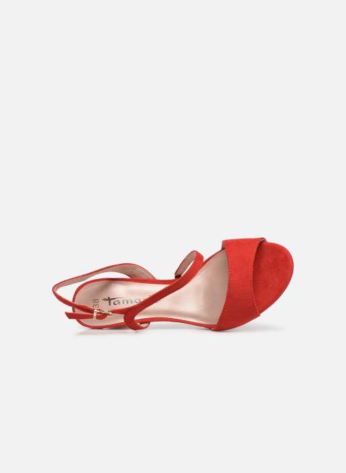 Sandales et nu-pieds Tamaris Surelle Rouge vue gauche