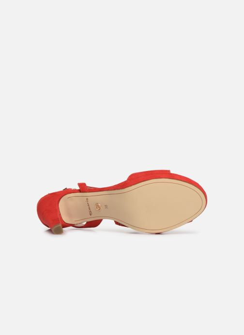 Sandales et nu-pieds Tamaris Surelle Rouge vue haut