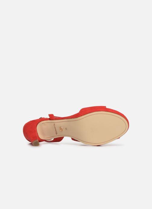 Sandali e scarpe aperte Tamaris Surelle Rosso immagine dall'alto