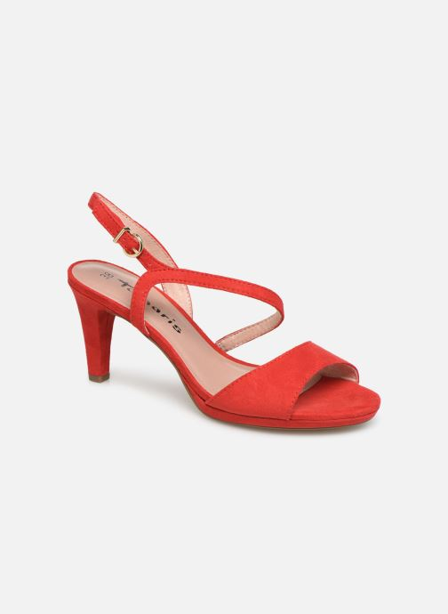 Sandals Tamaris Surelle Red detailed view/ Pair view